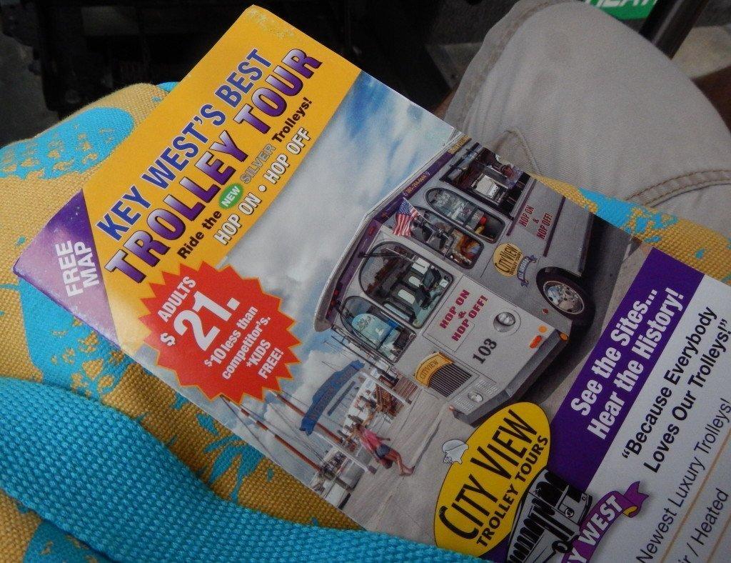 Key West trolley tour brochure