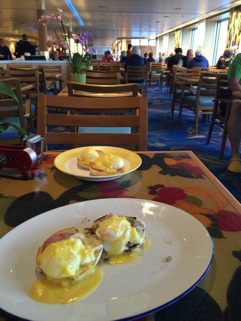 MS Amsterdam Lido Buffet Eggs Benedict