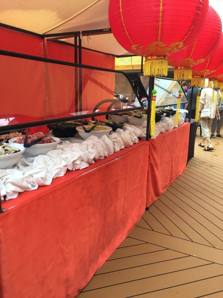 MS Amsterdam Lido Deck Mongolian BBQ