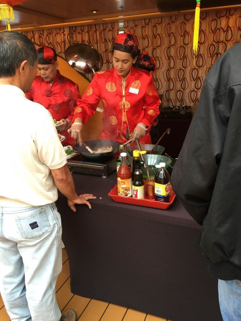 MS Amsterdam Lido Deck Mongolian BBQ Cooking Station