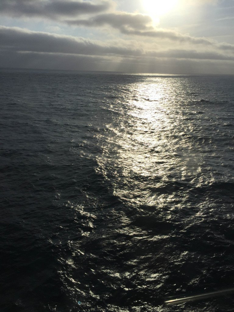 Sun setting on our final day at sea