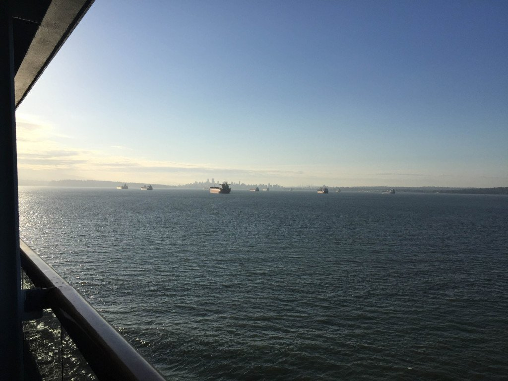 Vancouver in the Distance from the MS Amsterdam