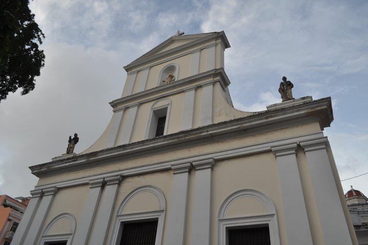 Front of Cathedral of San Juan Bautista - San Juan, Puerto Rico