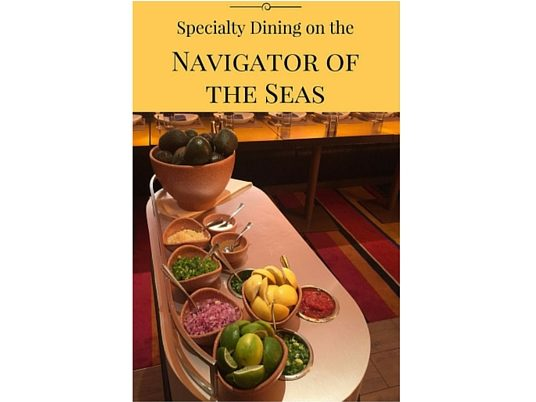 Specialty Dining on Navigator of the Seas Edit