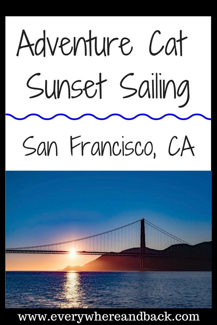 Adventure Cat sunset sailing charter golden gate bridge san francisco california