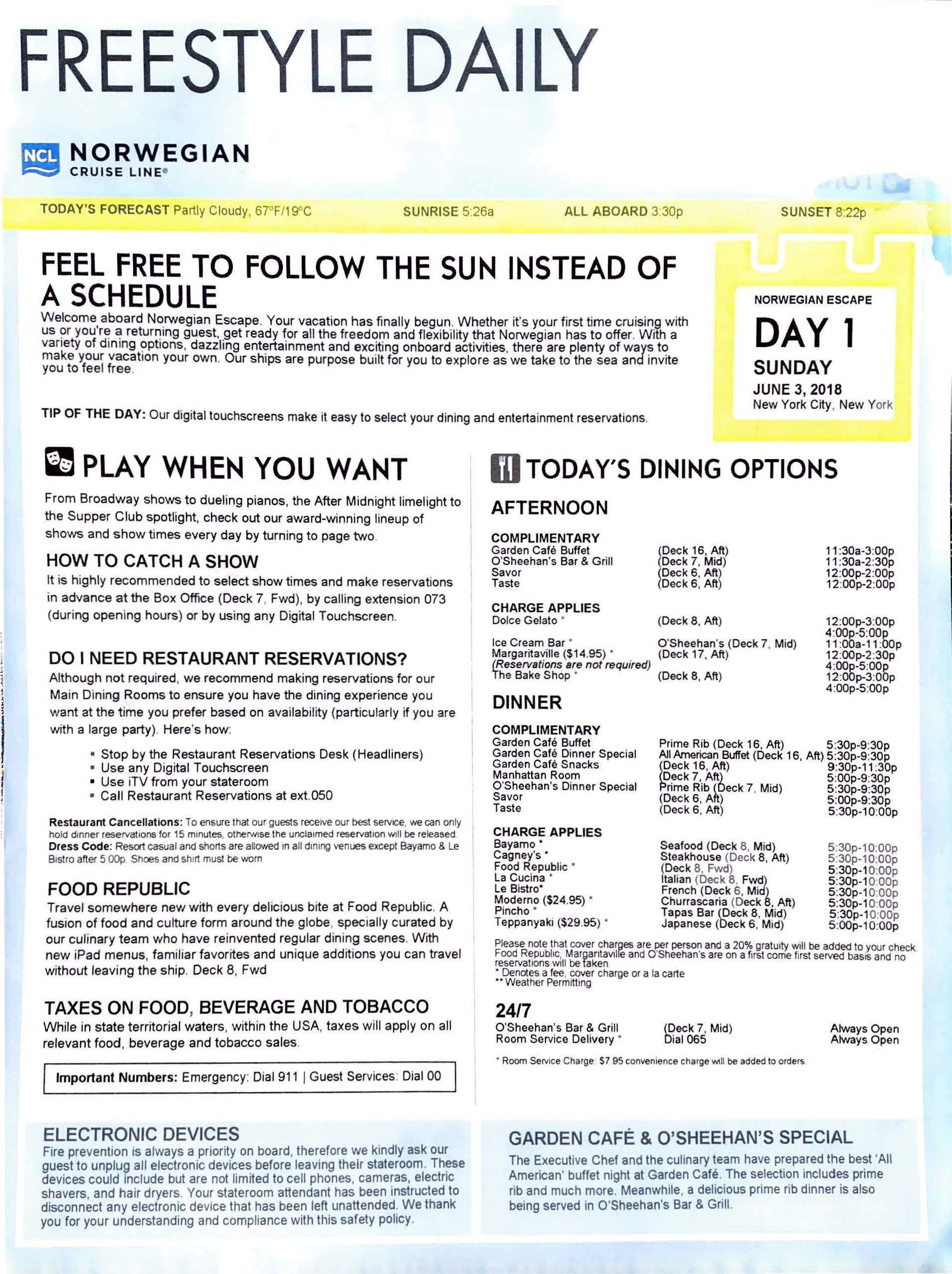 Norwegian Escape – NYC Bermuda – Day 1_Page_1