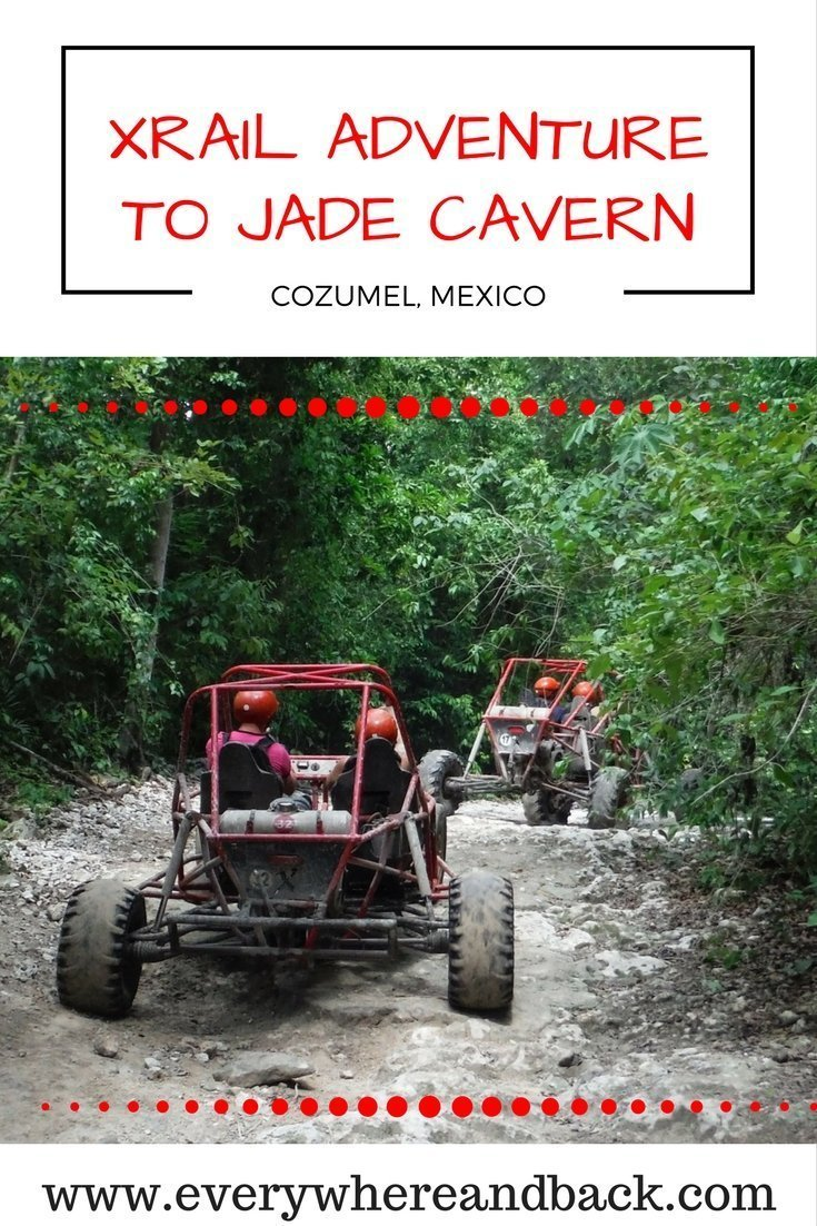 Xrail adventure to Jade Cavern Cozumel