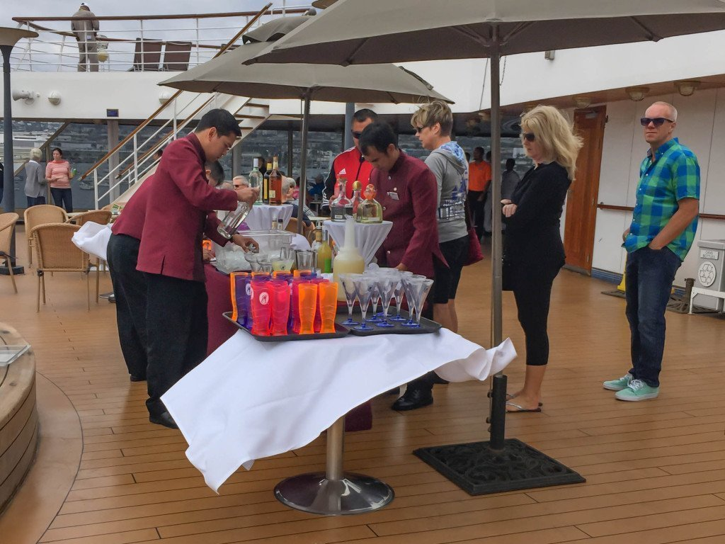 Sailaway Drinks on the Aft Deck near the pool