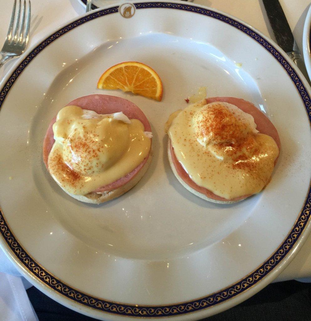 MS Amsterdam Eggs Benedict