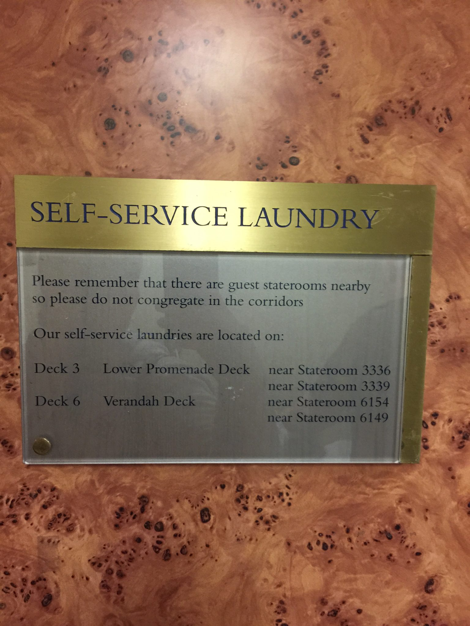 Self Service Laundry ~ Holland america amsterdam day pt
