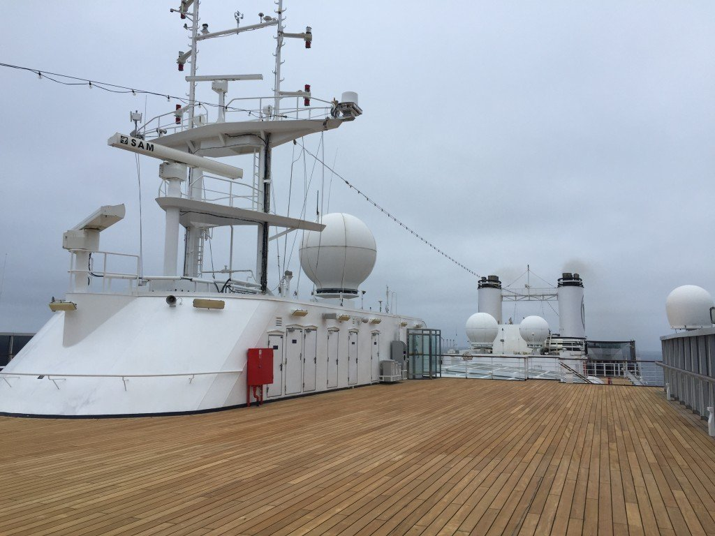 Top Deck at the Bow of the MS Amsterdam