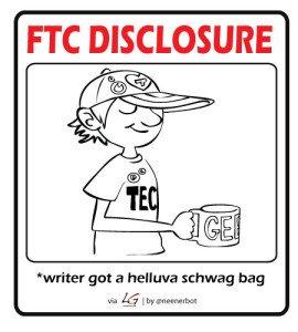FTC Disclosure - writer got stuff