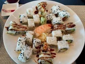 Finished plate of sushi after Izumi class